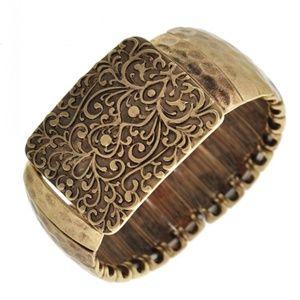 Jewelry - Burnished Gold Stretch Bracelet